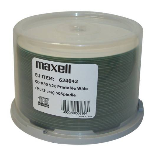 CD MAXELL    50 UNDS 52X 700MB