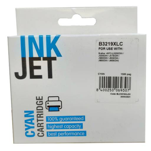 CARTUCHO INK BROTHER LC3219XL  CIAN PLUS+ 1500 pag